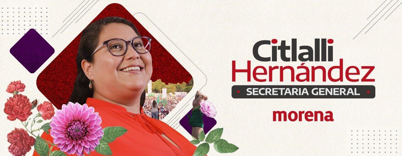 Quién es Citlalli Hernández, aspirante a la Secretaría General de Morena? |  Mujer México