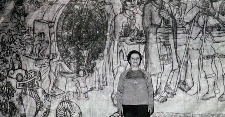 ¿Quién es Aurora Reyes, pionera feminista del muralismo mexicano?