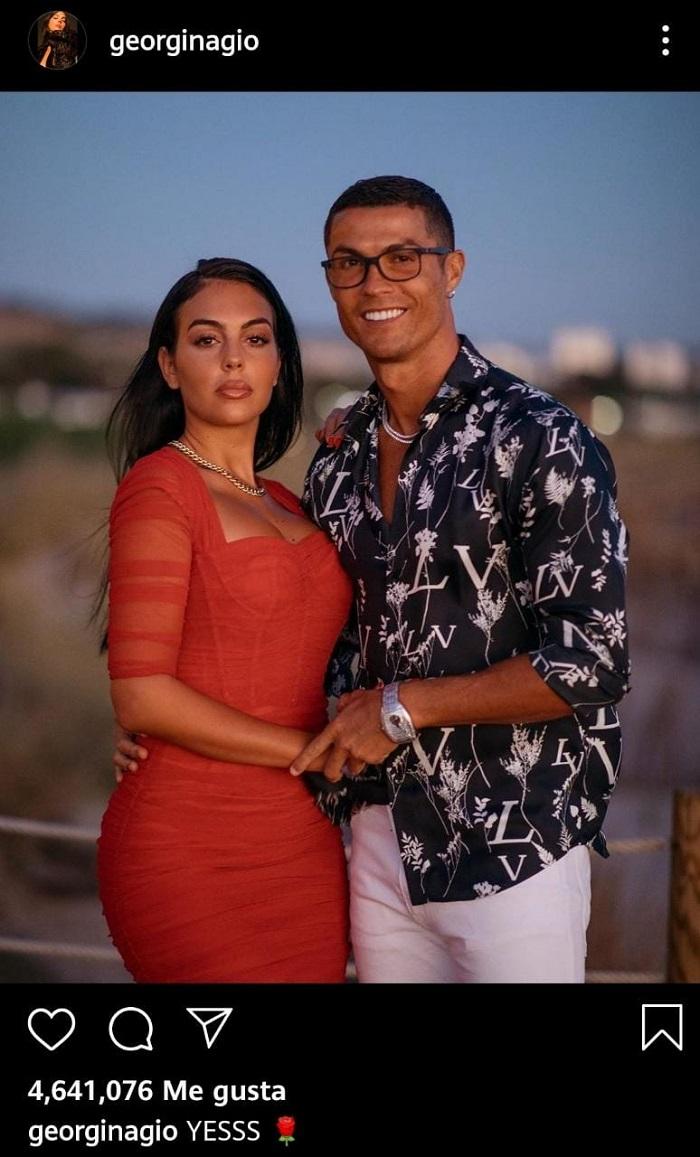 El compromiso entre Georgina Rodríguez y Cristiano Ronaldo