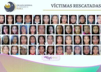 Rescatan en Puebla a 74 mujeres víctimas de explotación sexual