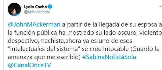 Sabina Berman enfrenta violencia laboral de John Ackerman