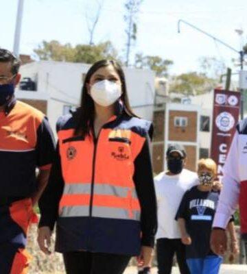 Claudia Rivera Vivanco entrega 5 calles adoquinadas en San Pablo Xochimehucan