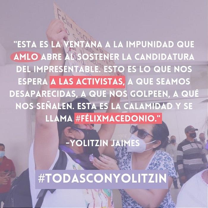 Yolitzin Jaimes denuncia amenazas en su contra