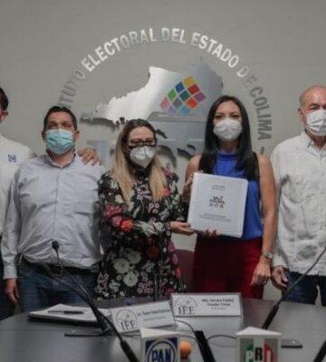 Mely Romero se registra como candidata de PRI-PAN-PRD a gubernatura de Colima