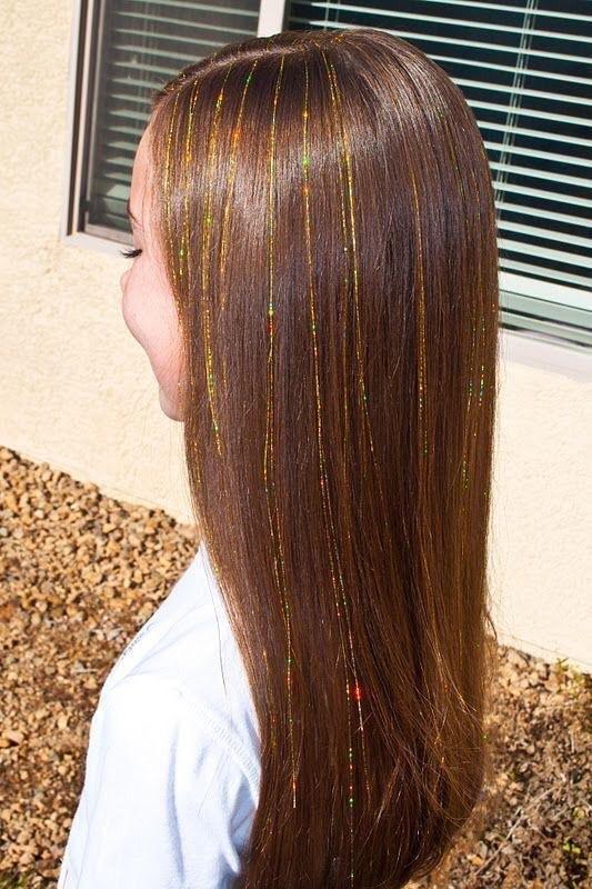 ¿Cómo se ponen los glitter hair?