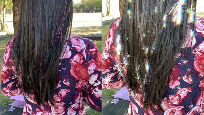 ¿Qué es el glitter hair?