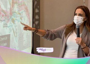 Clara Luz Flores, candidata a gobernadora de Nuevo León, promete segundos pisos viales