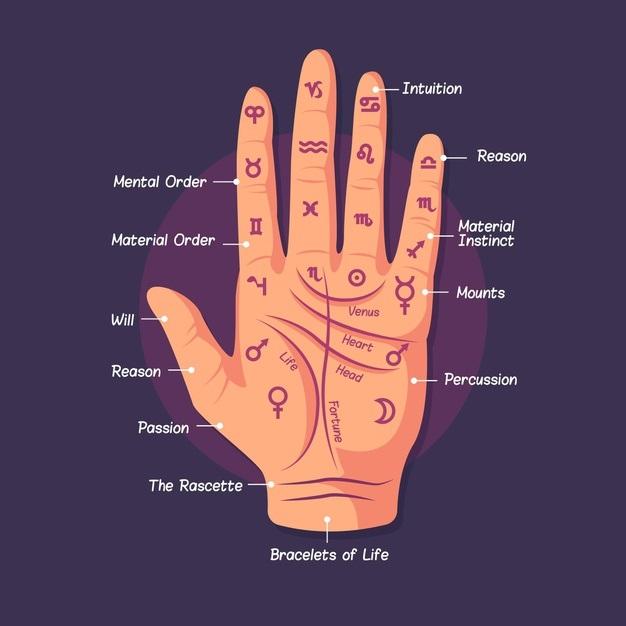 ¿Cuál es la mano que se lee?