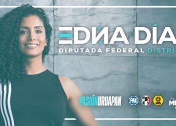Edna Díaz, candidata a diputada federal de Uruapan, promete dar voz a mujeres