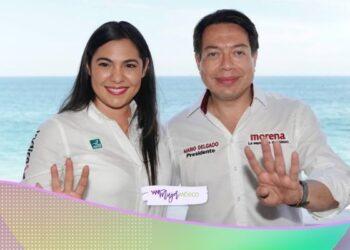 Mario Delgado muestro apoyo a la candidata Indira Vizcaíno