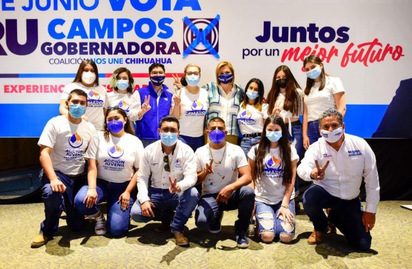 Maru Campos recibe respaldo de Acción Juvenil en Chihuahua