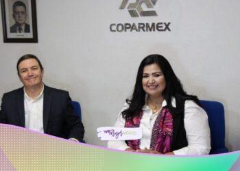 Rosa Elena Millán, candidata a gobernadora de Sinaloa, firma compromisos con la Coparmex