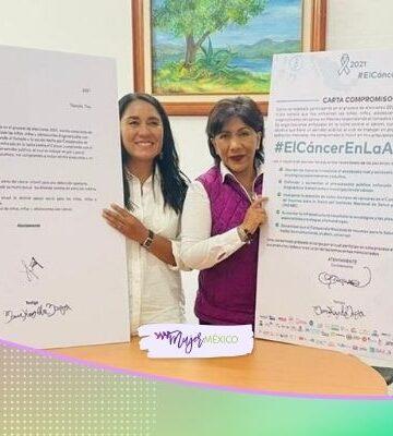 Anabell Ávalos, candidata a gobernadora, apoyará a niños con cáncer en Tlaxcala