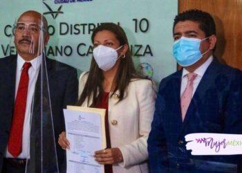Evelyn Parra recibe constancia de mayoría en Venustiano Carranza