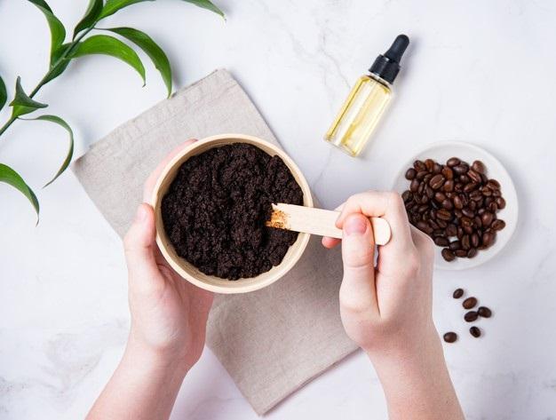 Mascarilla de café antiarrugas